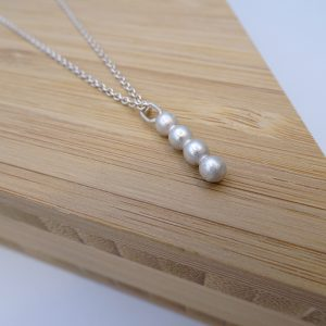 Ketting zilver DOTS