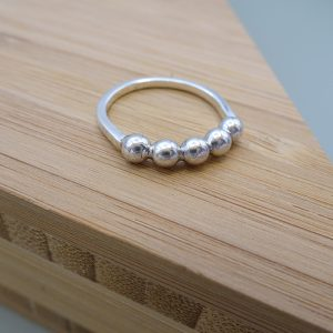 Ring zilver DOTS