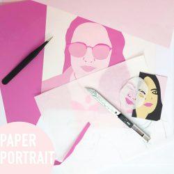 Paperportrait met cirkel