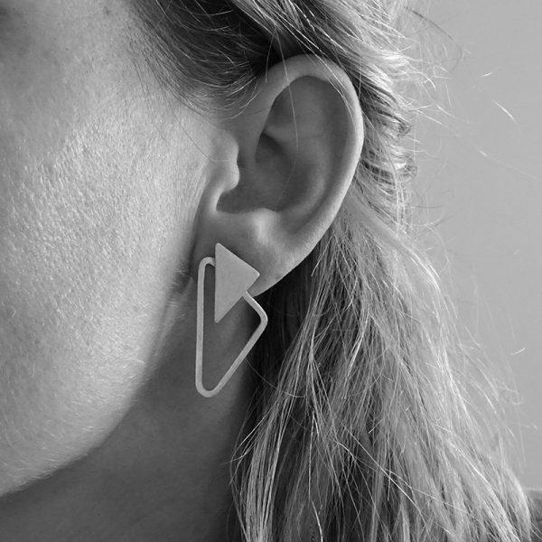oorbellen triangle bold d